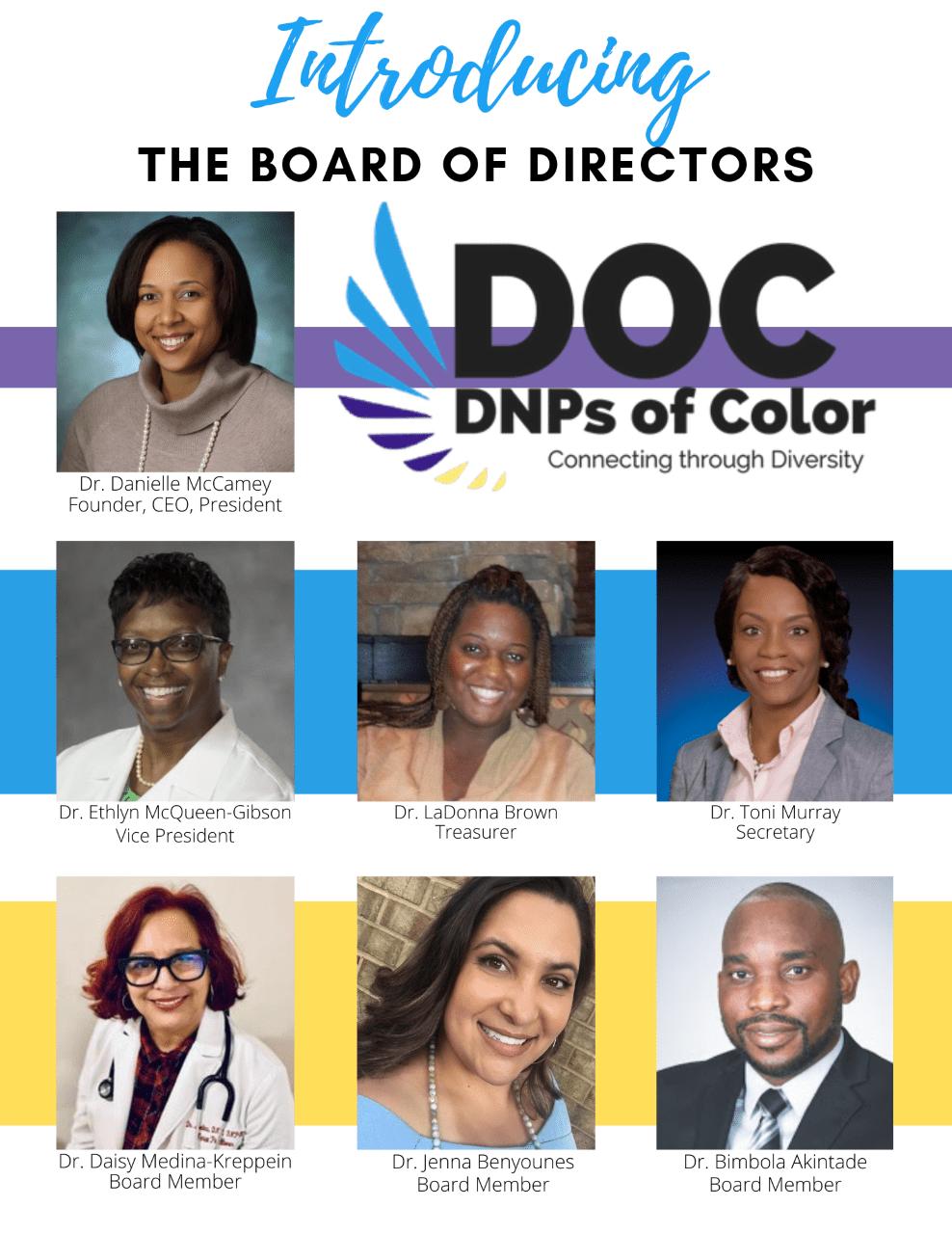 2020 Inaugural Board of Directors